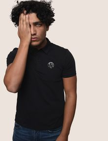 ARMANI EXCHANGE CIRCLE LOGO COLORBLOCK POLO SHORT SLEEVES POLO Man a