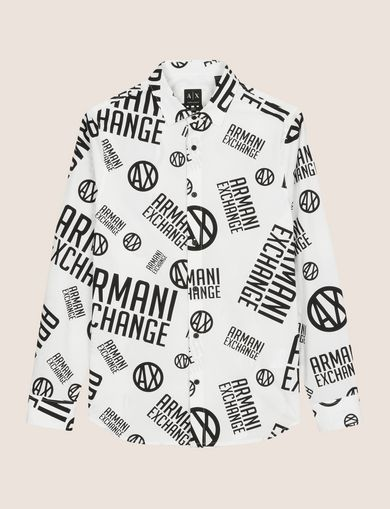 STRETCH CIRCLE LOGO PRINT SHIRT