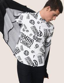 ARMANI EXCHANGE STRETCH-HEMD MIT RUNDEM LOGOPRINT Langärmeliges Hemd [*** pickupInStoreShippingNotGuaranteed_info ***] a