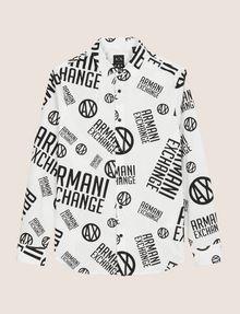 ARMANI EXCHANGE STRETCH-HEMD MIT RUNDEM LOGOPRINT Langärmeliges Hemd [*** pickupInStoreShippingNotGuaranteed_info ***] r