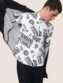 ARMANI EXCHANGE STRETCH CIRCLE LOGO PRINT SHIRT Long-Sleeved Shirt Man a