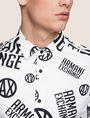 ARMANI EXCHANGE STRETCH CIRCLE LOGO PRINT SHIRT Long-Sleeved Shirt Man b