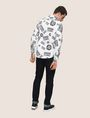 ARMANI EXCHANGE STRETCH CIRCLE LOGO PRINT SHIRT Long sleeve shirt Man e