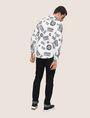 ARMANI EXCHANGE STRETCH CIRCLE LOGO PRINT SHIRT Long-Sleeved Shirt Man e