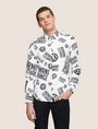 ARMANI EXCHANGE STRETCH CIRCLE LOGO PRINT SHIRT Long sleeve shirt Man f