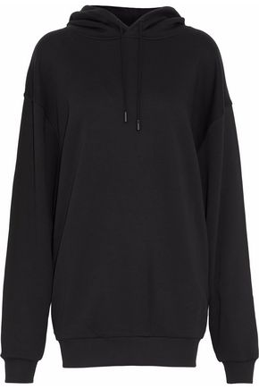 ACNE STUDIOS Embroidered French cotton-terry hooded sweatershirt