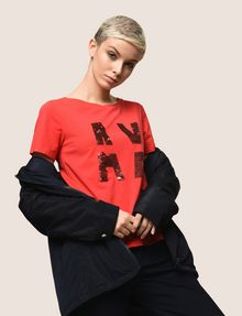 ARMANI EXCHANGE T-SHIRT CON LOGO E PAILLETTES T-shirt con logo [*** pickupInStoreShipping_info ***] a