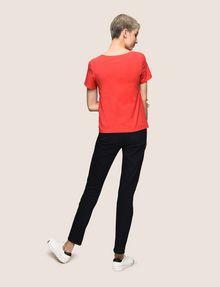 ARMANI EXCHANGE SEQUIN LOGO SPLIT TEE Logo T-shirt Woman e