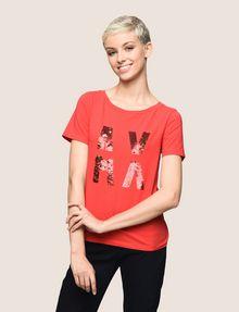 ARMANI EXCHANGE T-SHIRT CON LOGO E PAILLETTES T-shirt con logo [*** pickupInStoreShipping_info ***] f