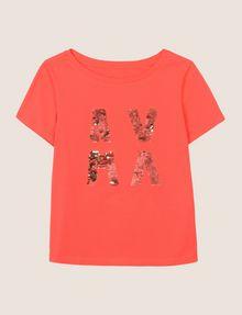 ARMANI EXCHANGE T-SHIRT CON LOGO E PAILLETTES T-shirt con logo [*** pickupInStoreShipping_info ***] r