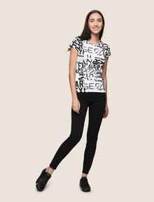 ARMANI EXCHANGE ALLOVER TYPE TEE Logo T-shirt Woman d
