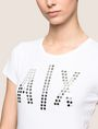 ARMANI EXCHANGE MIRRORED STUD LOGO TEE Logo T-shirt Woman b