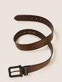 ARMANI EXCHANGE SQUARE BUCKLE LOGO BELT Belt Man r