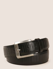 ARMANI EXCHANGE TEXTURED STRIPE LOGO BELT Belt Man f