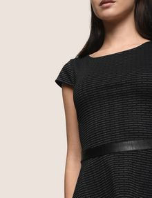 ARMANI EXCHANGE CAP-SLEEVE PEPLUM-HEM TOP S/L Knit Top Woman a