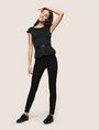 ARMANI EXCHANGE CAP-SLEEVE PEPLUM-HEM TOP S/L Knit Top Woman d