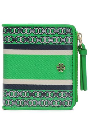 TORY BURCH Printed canvas wallet