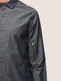 ARMANI EXCHANGE UTILITY ZIP INDIGO SHIRT Long sleeve shirt Man b