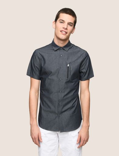 VERTICAL ZIP SHORT-SLEEVE SHIRT