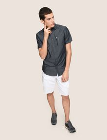 ARMANI EXCHANGE VERTICAL ZIP SHORT-SLEEVE SHIRT Short sleeve shirt Man d