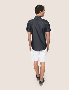 ARMANI EXCHANGE VERTICAL ZIP SHORT-SLEEVE SHIRT Short sleeve shirt Man e