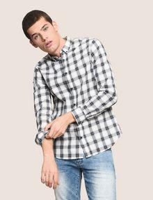ARMANI EXCHANGE REGULAR-FIT STRETCH PLAID SHIRT Long sleeve shirt Man a