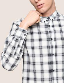 ARMANI EXCHANGE REGULAR-FIT STRETCH PLAID SHIRT Long sleeve shirt Man b