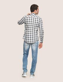 ARMANI EXCHANGE REGULAR-FIT STRETCH PLAID SHIRT Long sleeve shirt Man e