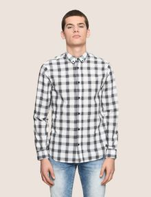 ARMANI EXCHANGE REGULAR-FIT STRETCH PLAID SHIRT Long sleeve shirt Man f