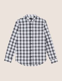 ARMANI EXCHANGE REGULAR-FIT STRETCH PLAID SHIRT Long sleeve shirt Man r
