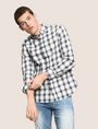 ARMANI EXCHANGE REGULAR-FIT STRETCH PLAID SHIRT Long sleeve shirt Man a