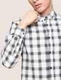ARMANI EXCHANGE REGULAR-FIT STRETCH PLAID SHIRT Long sleeve shirt Man b