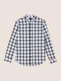ARMANI EXCHANGE REGULAR-FIT STRETCH PLAID SHIRT Long sleeve shirt Man r