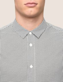 ARMANI EXCHANGE REGULAR-FIT STRETCH MICROPRINT SHIRT Long-Sleeved Shirt Man b