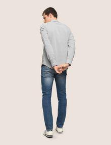 ARMANI EXCHANGE REGULAR-FIT STRETCH MICROPRINT SHIRT Long-Sleeved Shirt Man e