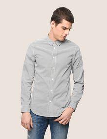 ARMANI EXCHANGE REGULAR-FIT STRETCH MICROPRINT SHIRT Long-Sleeved Shirt Man f