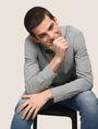 ARMANI EXCHANGE REGULAR-FIT STRETCH MICROPRINT SHIRT Long-Sleeved Shirt Man a