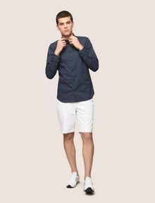 ARMANI EXCHANGE REGULAR-FIT STRETCH MICROPRINT SHIRT Long sleeve shirt Man d