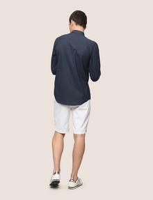 ARMANI EXCHANGE REGULAR-FIT STRETCH MICROPRINT SHIRT Long sleeve shirt Man e