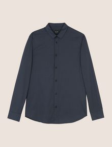ARMANI EXCHANGE REGULAR-FIT STRETCH MICROPRINT SHIRT Long sleeve shirt Man r
