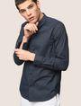 ARMANI EXCHANGE REGULAR-FIT STRETCH MICROPRINT SHIRT Long sleeve shirt Man a