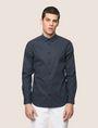 ARMANI EXCHANGE REGULAR-FIT STRETCH MICROPRINT SHIRT Long sleeve shirt Man f
