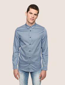 ARMANI EXCHANGE REGULAR-FIT MICROPRINT SHIRT Long sleeve shirt Man f