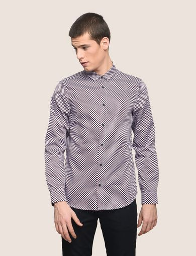 REGULAR-FIT MICROPRINT SHIRT