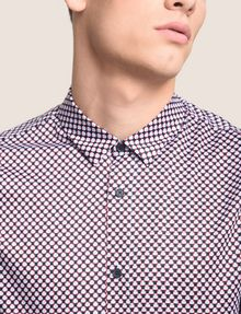 ARMANI EXCHANGE REGULAR-FIT MICROPRINT SHIRT Long-Sleeved Shirt Man b