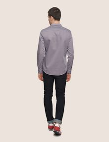 ARMANI EXCHANGE REGULAR-FIT MICROPRINT SHIRT Long-Sleeved Shirt Man e