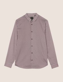 ARMANI EXCHANGE REGULAR-FIT MICROPRINT SHIRT Long-Sleeved Shirt Man r