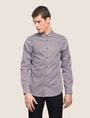 ARMANI EXCHANGE REGULAR-FIT MICROPRINT SHIRT Long-Sleeved Shirt Man f
