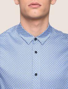 ARMANI EXCHANGE REGULAR-FIT MICROPRINT SHIRT Long sleeve shirt [*** pickupInStoreShippingNotGuaranteed_info ***] b