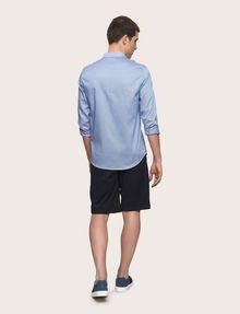 ARMANI EXCHANGE REGULAR-FIT MICROPRINT SHIRT Long sleeve shirt [*** pickupInStoreShippingNotGuaranteed_info ***] e